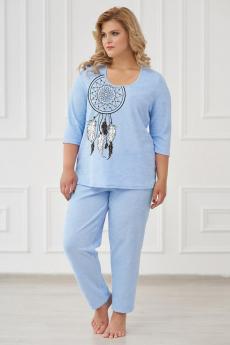 Теплая голубая пижама/костюм Шарлиз